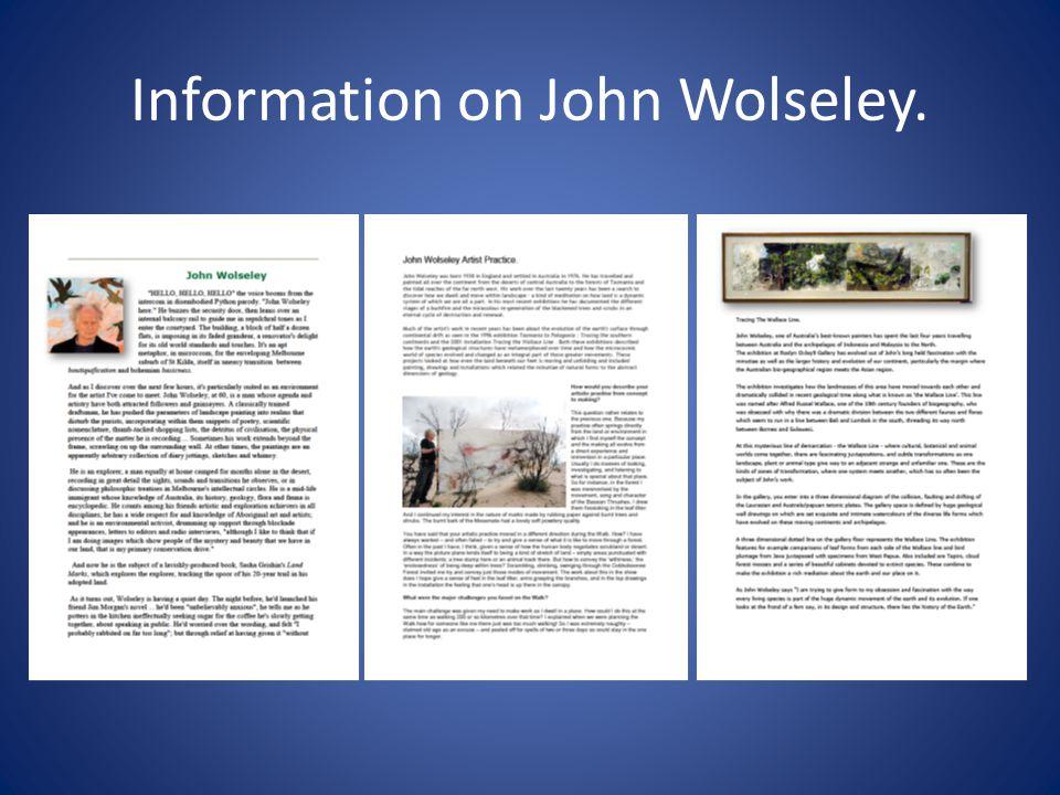 Information on John Wolseley.