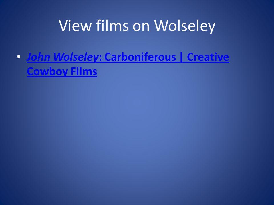 View films on Wolseley John Wolseley: Carboniferous | Creative Cowboy Films