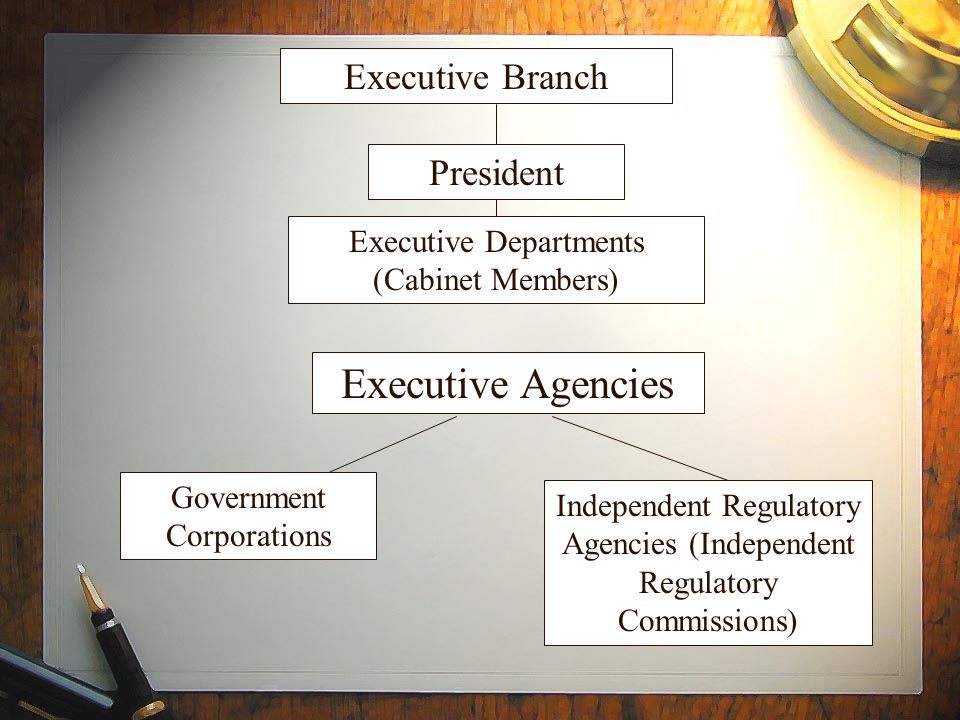 Executive Agencies Executive Branch President Executive Departments