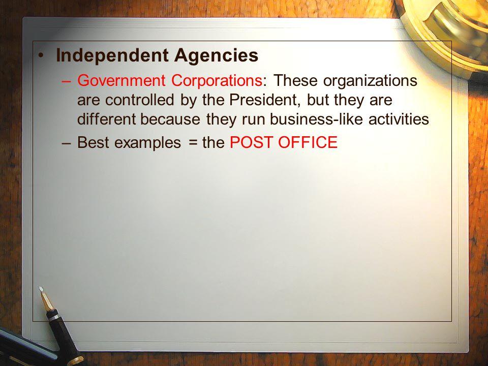 Independent Agencies
