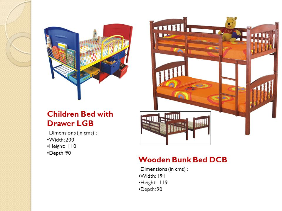 Children Bed with Drawer LGB