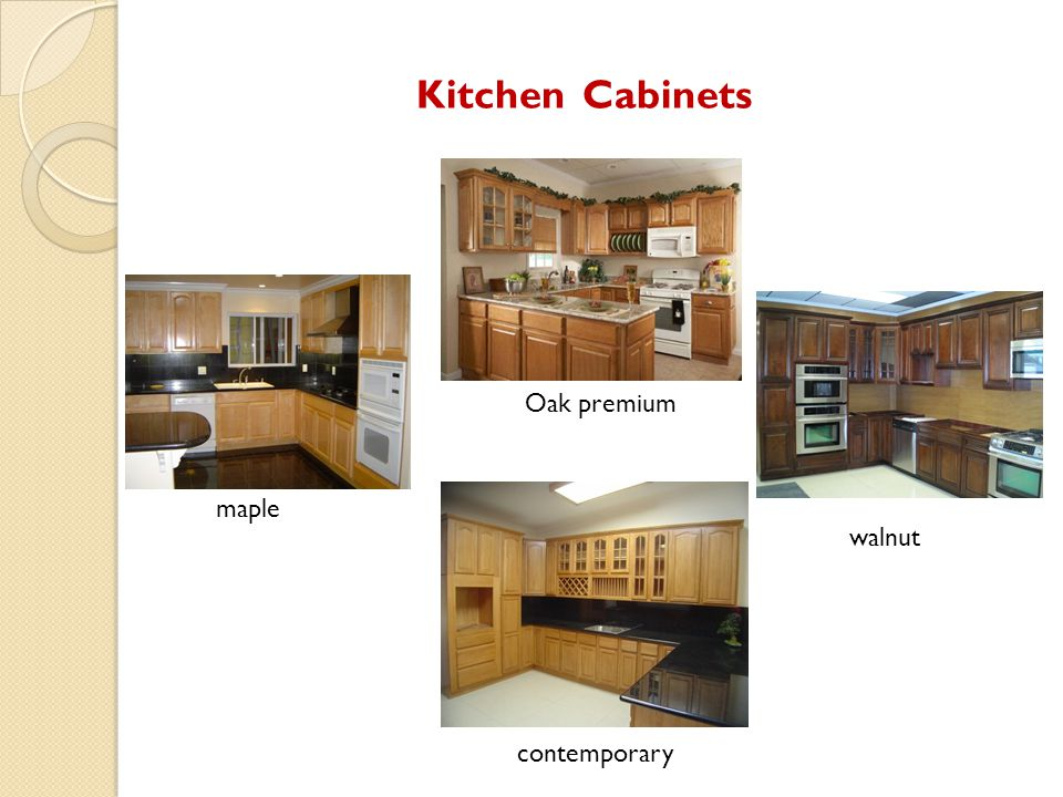 Kitchen Cabinets Oak premium maple walnut contemporary