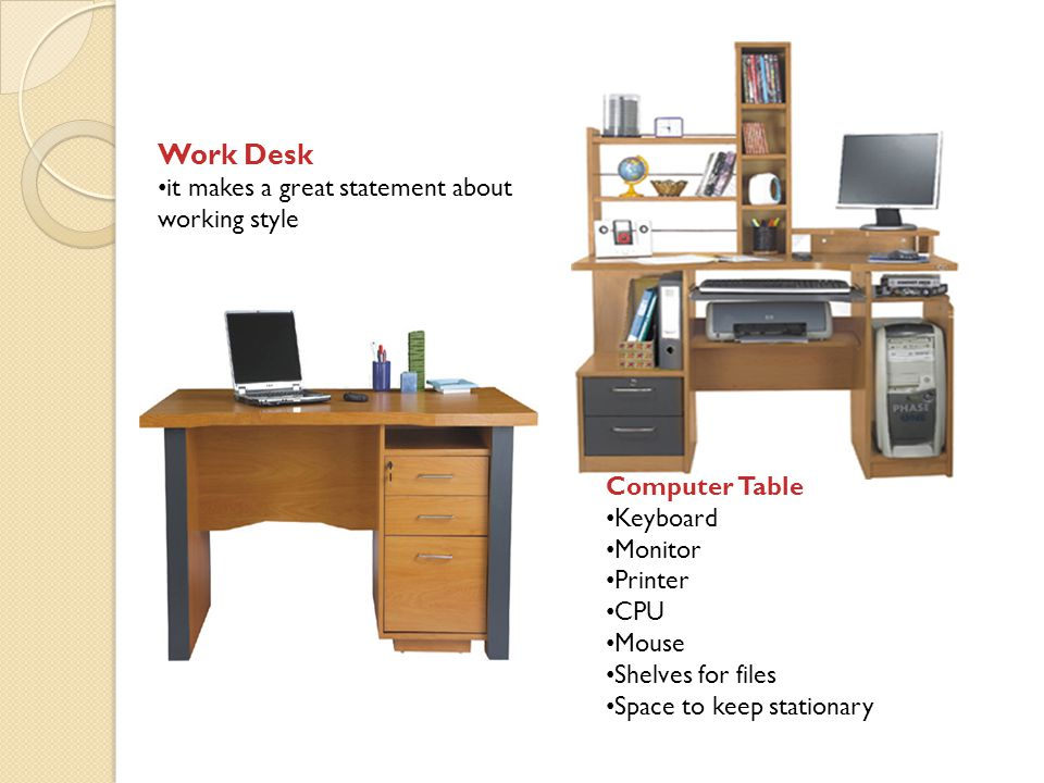 Work Desk it makes a great statement about working style