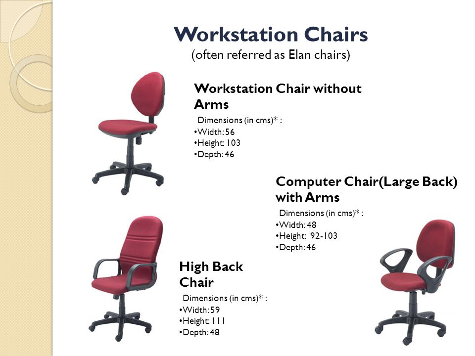 (often referred as Elan chairs)