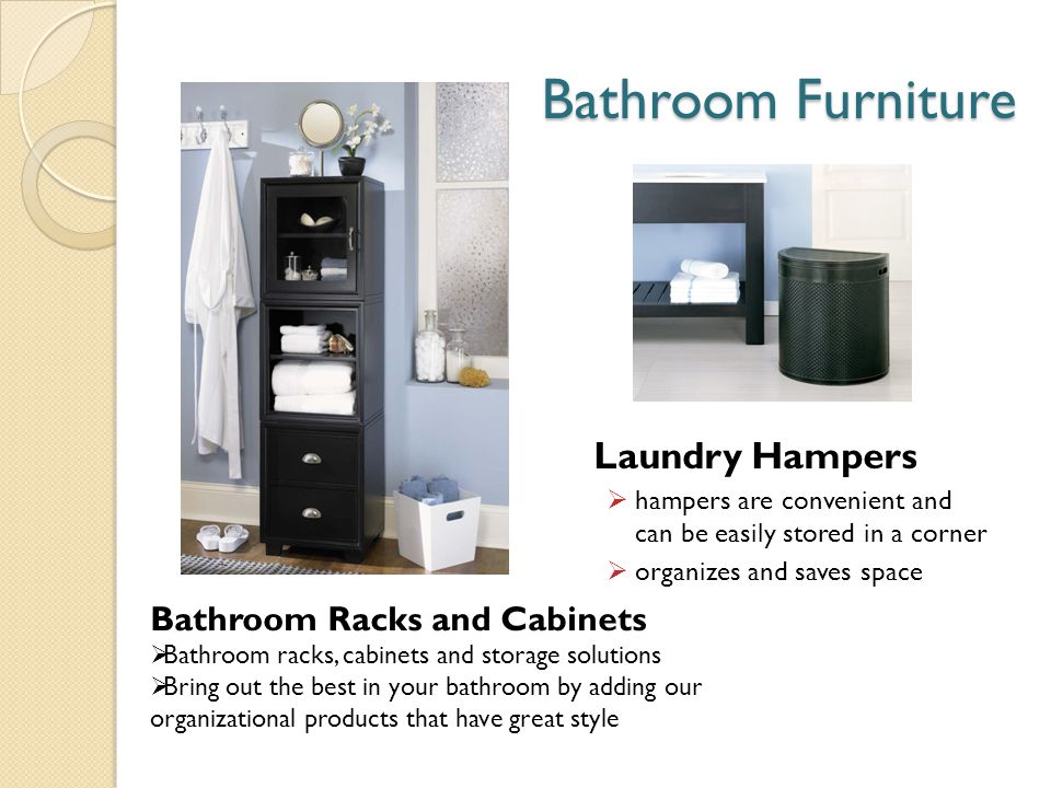 Bathroom Furniture Laundry Hampers Bathroom Racks and Cabinets