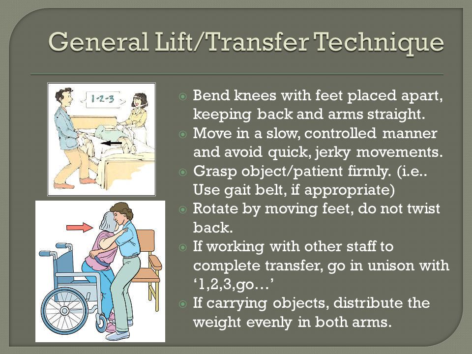 General Lift/Transfer Technique