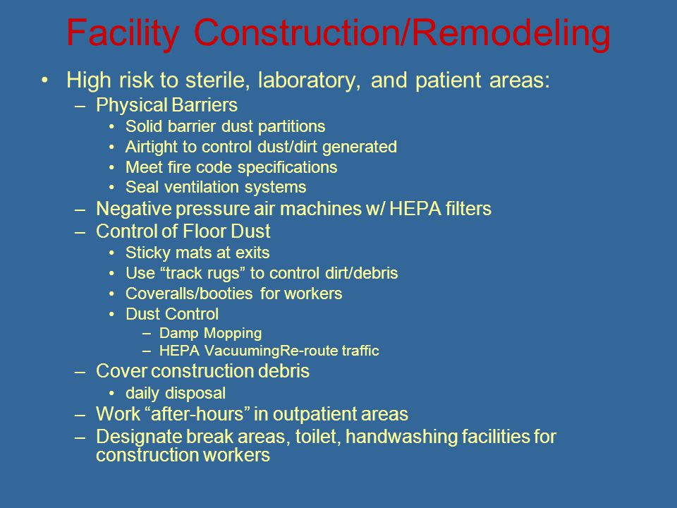 Facility Construction/Remodeling