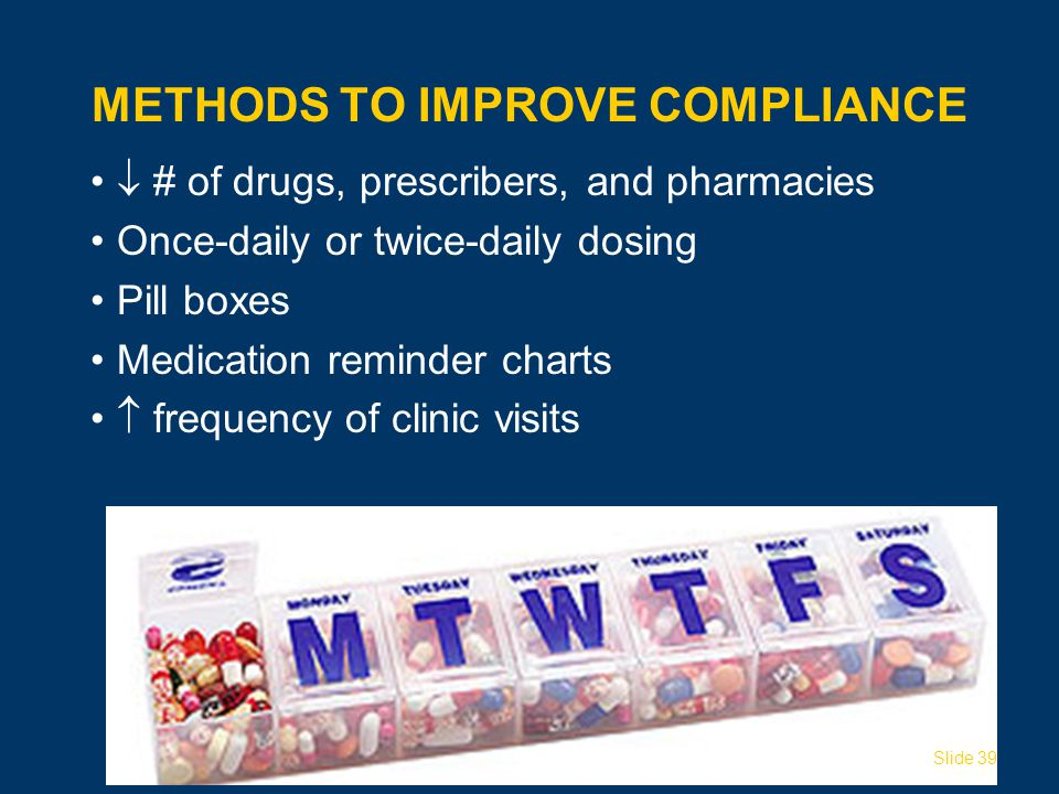 Methods to Improve Compliance
