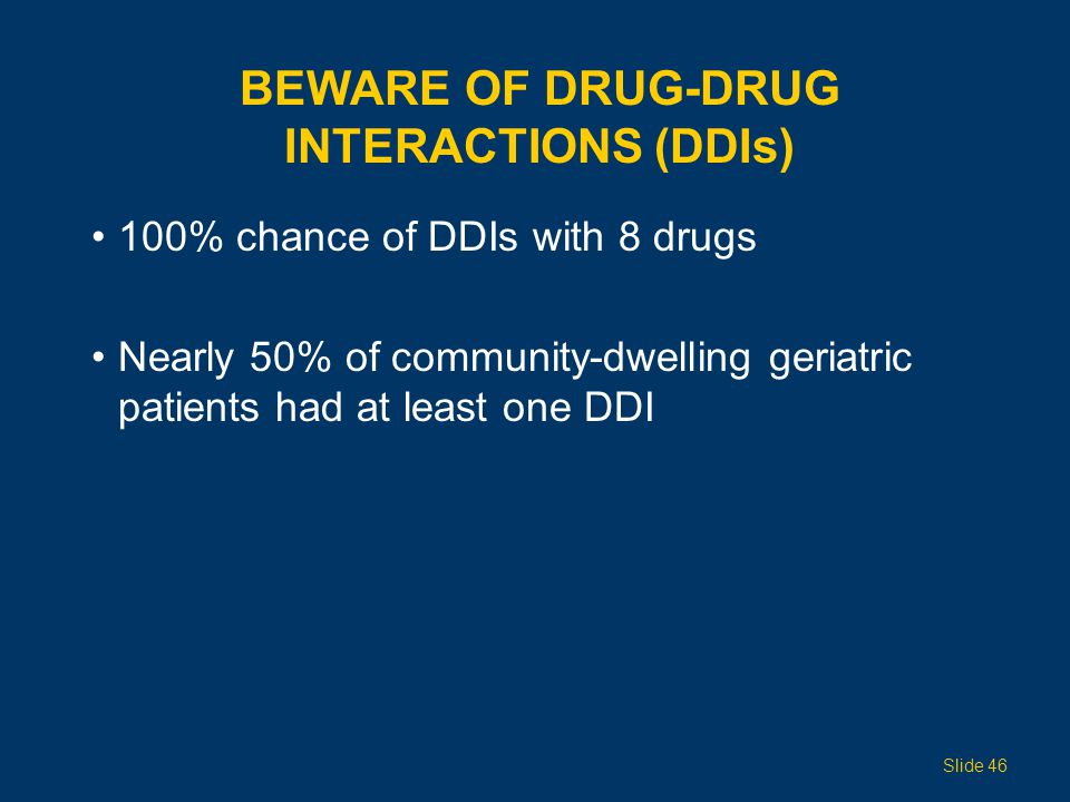 Beware of Drug-Drug Interactions (DDIs)