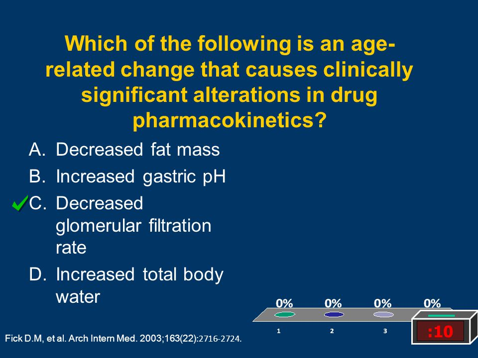 Which of the following is an age-related change that causes clinically significant alterations in drug pharmacokinetics