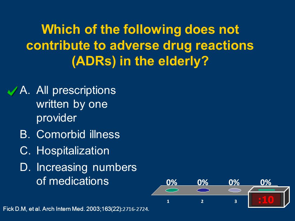 Which of the following does not contribute to adverse drug reactions (ADRs) in the elderly