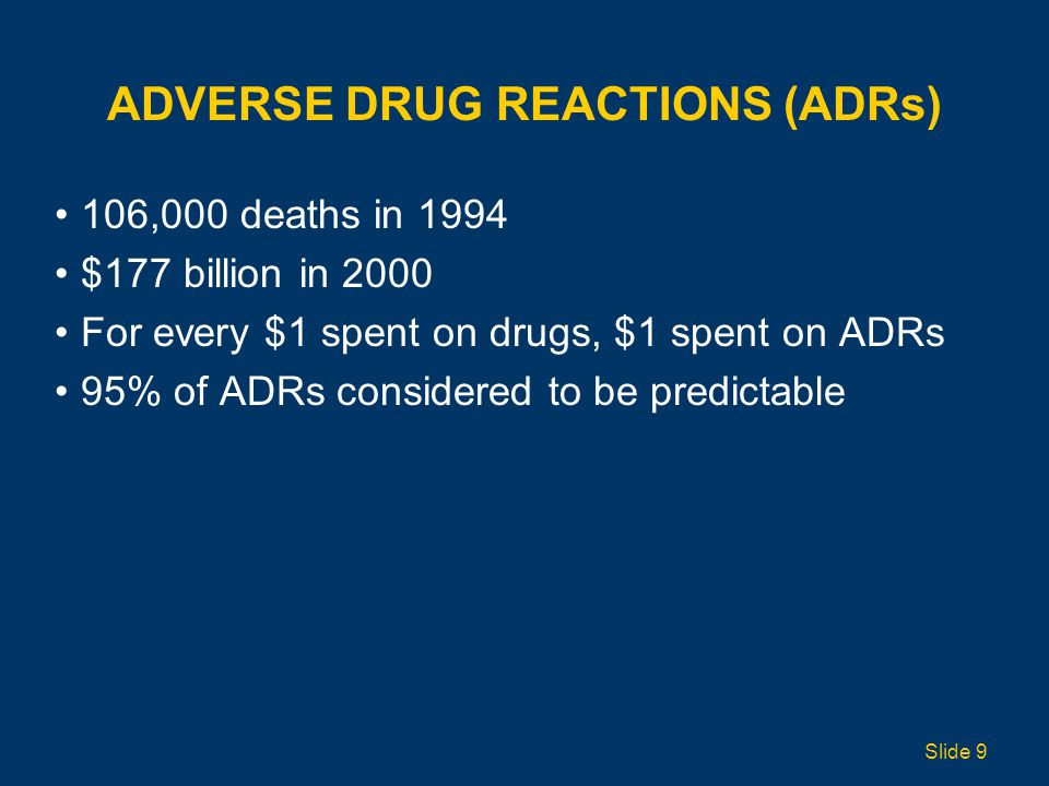 ADVERSE DRUG REACTIONS (ADRs)