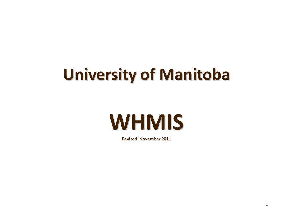 University of Manitoba WHMIS