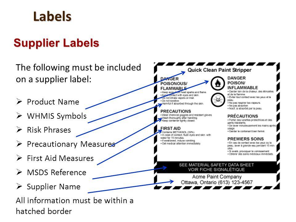 Labels Supplier Labels