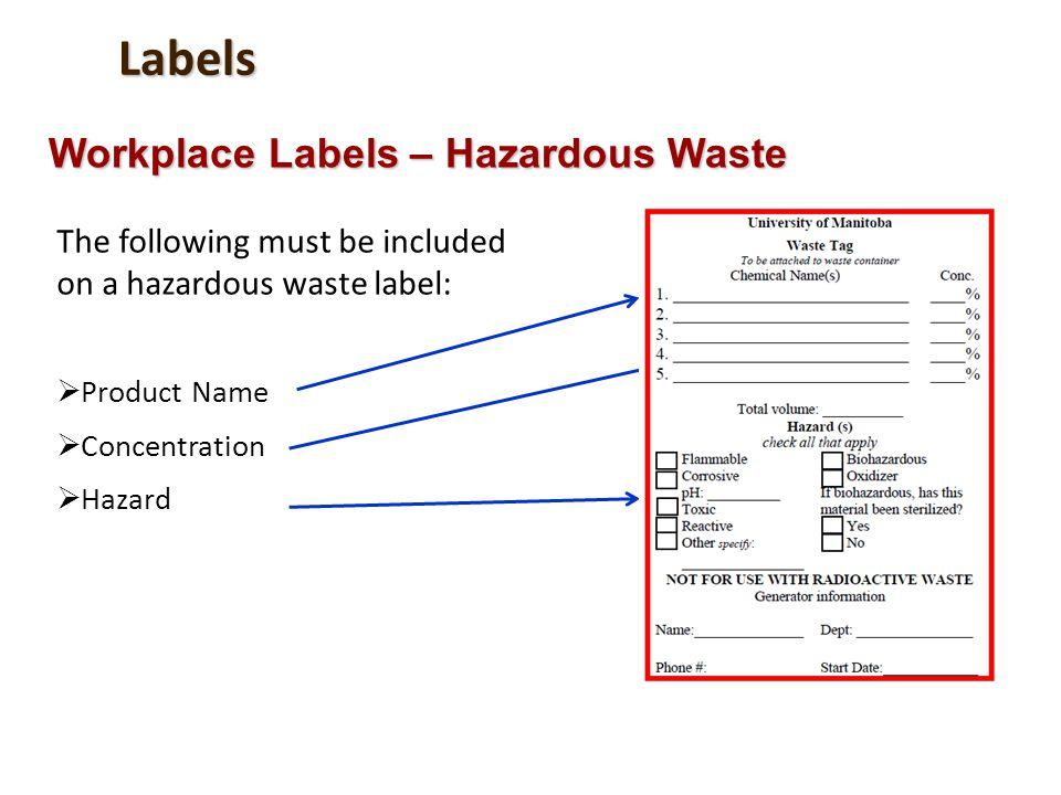 Labels Workplace Labels – Hazardous Waste