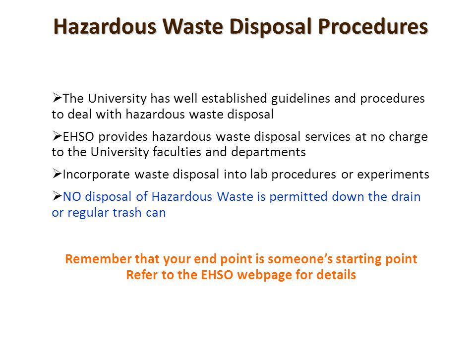 Hazardous Waste Disposal Procedures