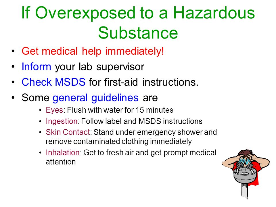 If Overexposed to a Hazardous Substance