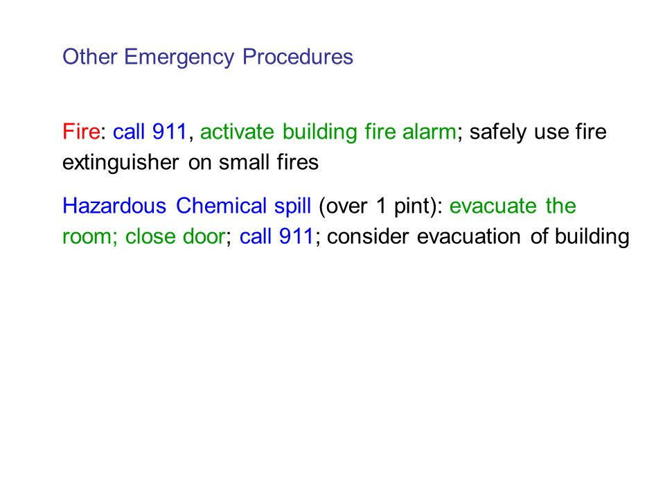 Other Emergency Procedures