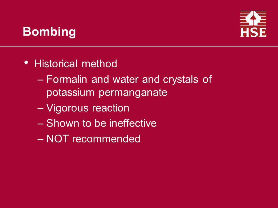 Bombing Historical method