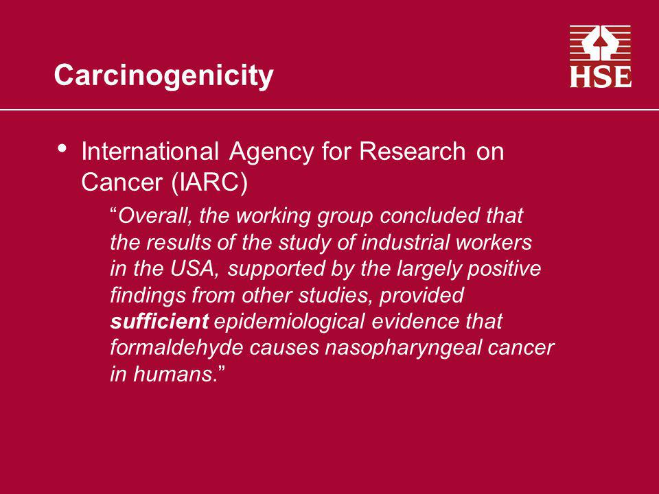Carcinogenicity International Agency for Research on Cancer (IARC)