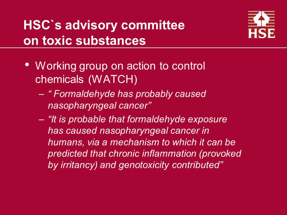 HSC`s advisory committee on toxic substances