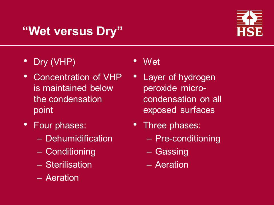Wet versus Dry Dry (VHP)