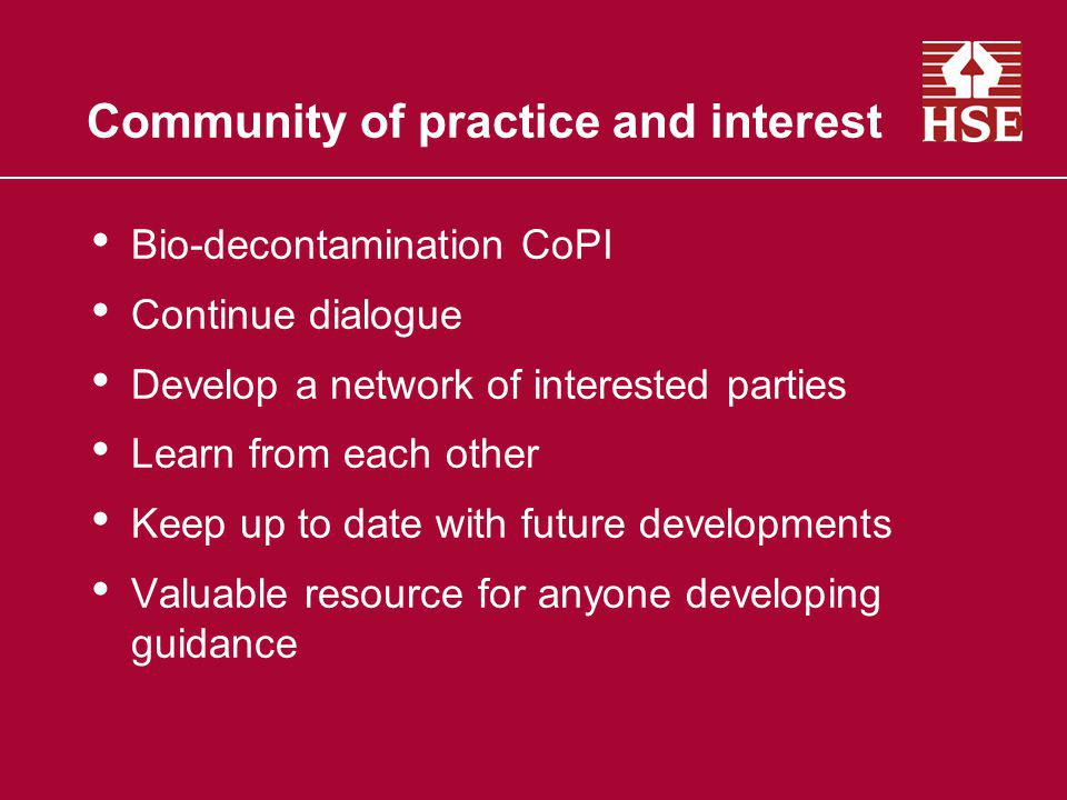 Community of practice and interest