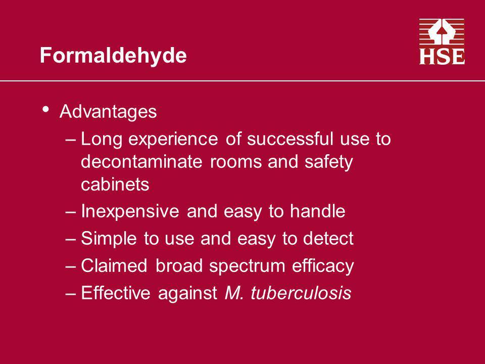 Formaldehyde Advantages