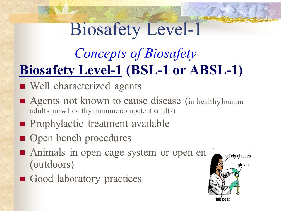 Biosafety Level-1 Concepts of Biosafety