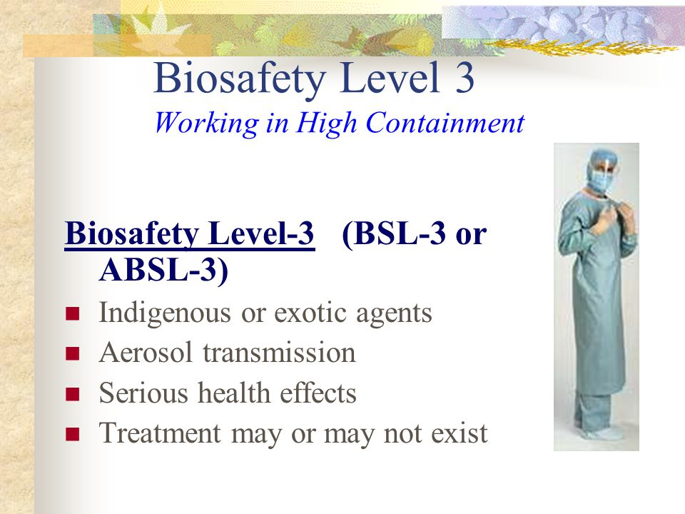 Biosafety Level 3 Working in High Containment