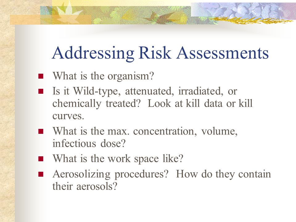 Risk assessment for the international space