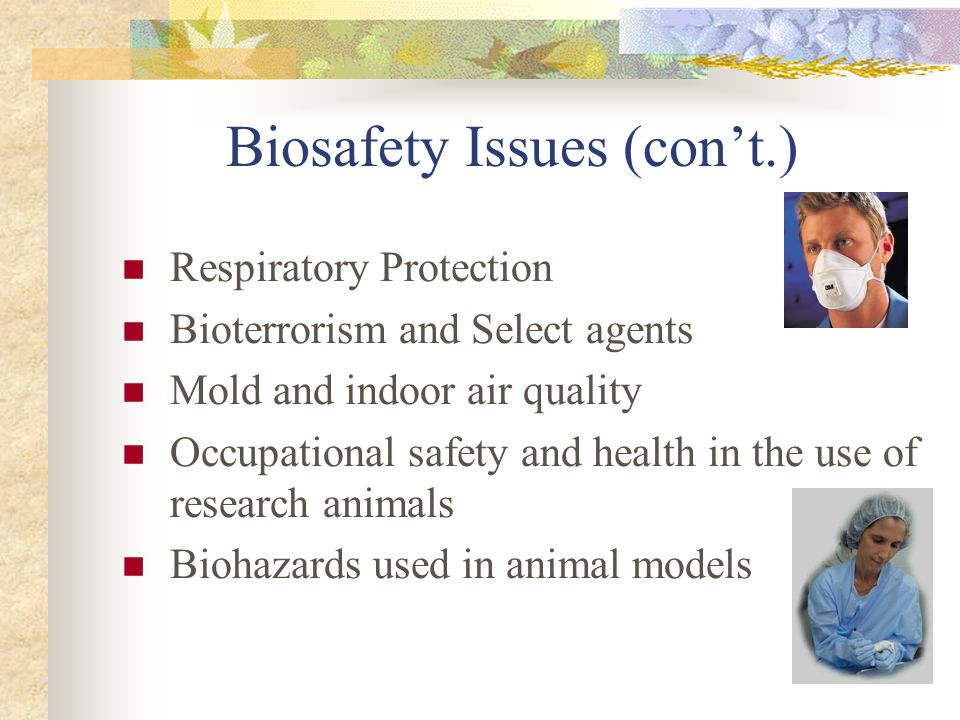 Biosafety Issues (con't.)