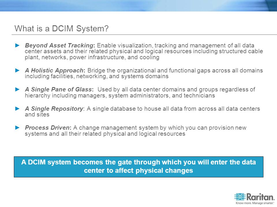 What is a DCIM System
