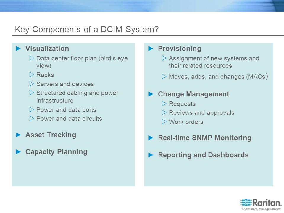 Key Components of a DCIM System