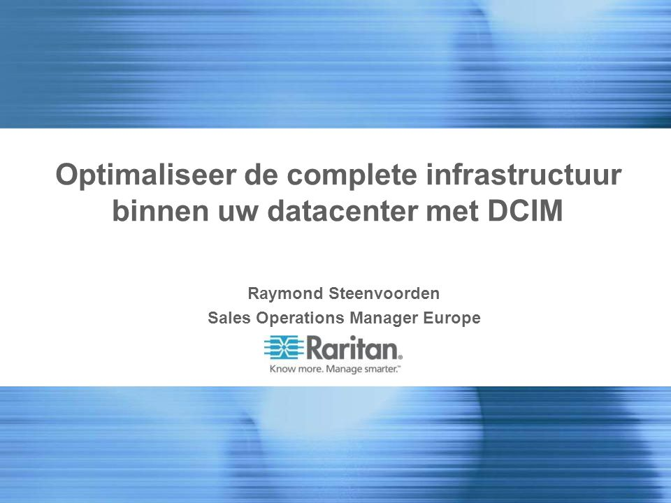 Optimaliseer de complete infrastructuur binnen uw datacenter met DCIM