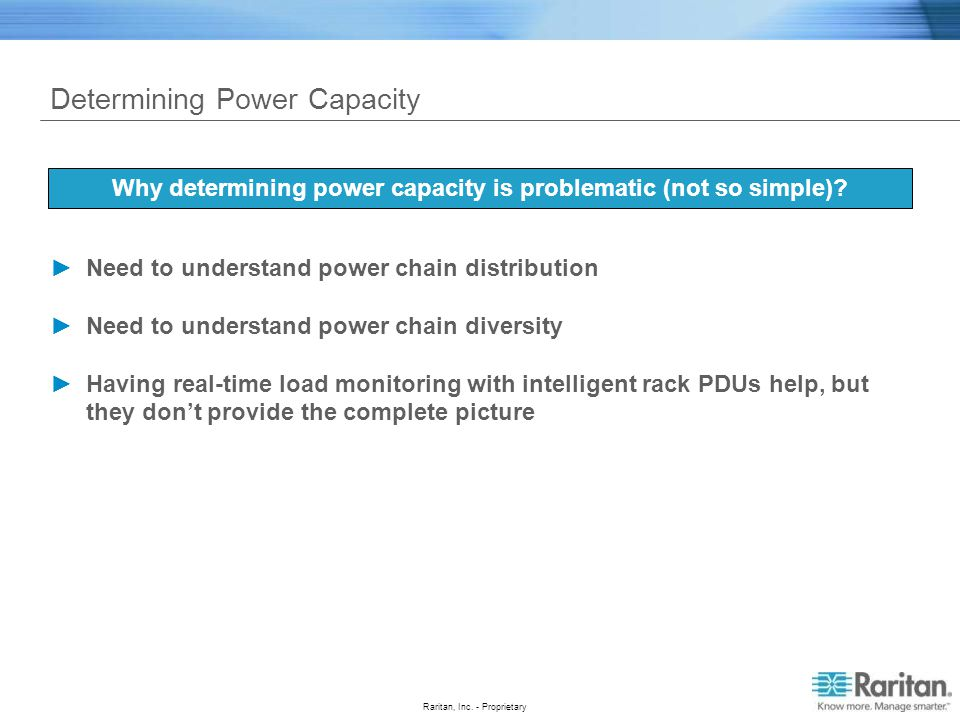 Determining Power Capacity