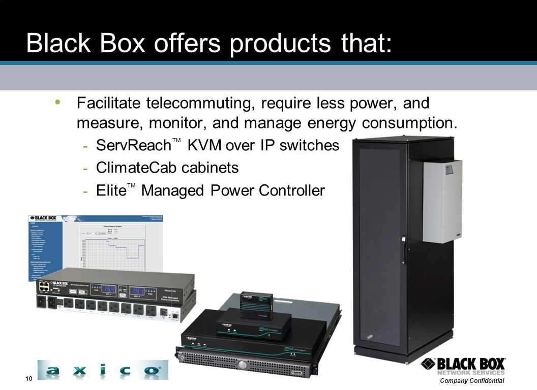 Black Box offers products that: