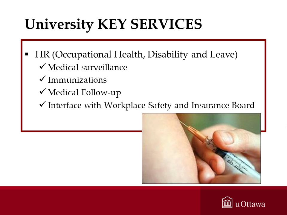 University KEY SERVICES
