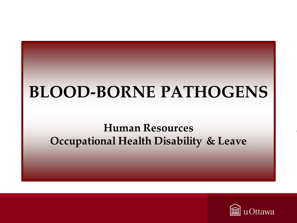 BLOOD-BORNE PATHOGENS Human Resources Occupational Health Disability & Leave
