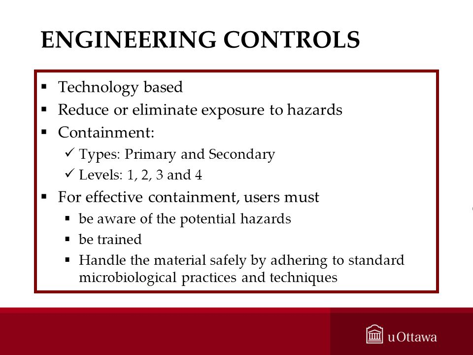 ENGINEERING CONTROLS Technology based