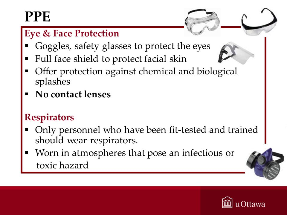 PPE Eye & Face Protection Goggles, safety glasses to protect the eyes