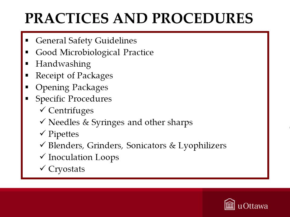 PRACTICES AND PROCEDURES