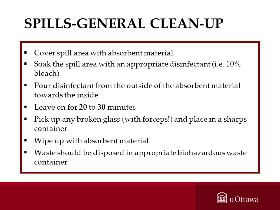 SPILLS-GENERAL CLEAN-UP
