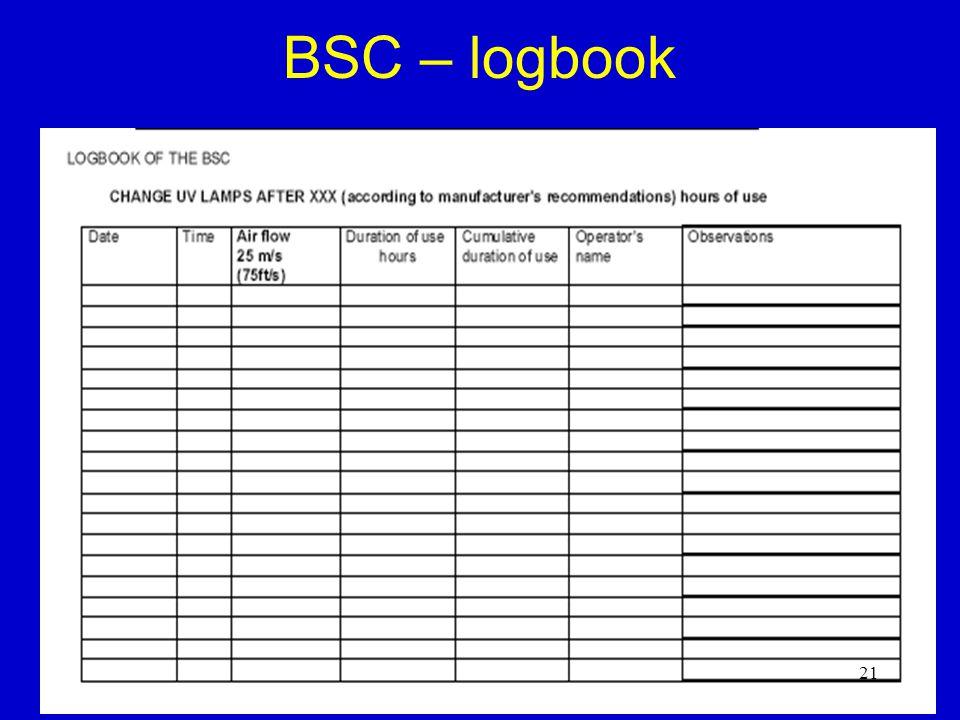 BSC – logbook