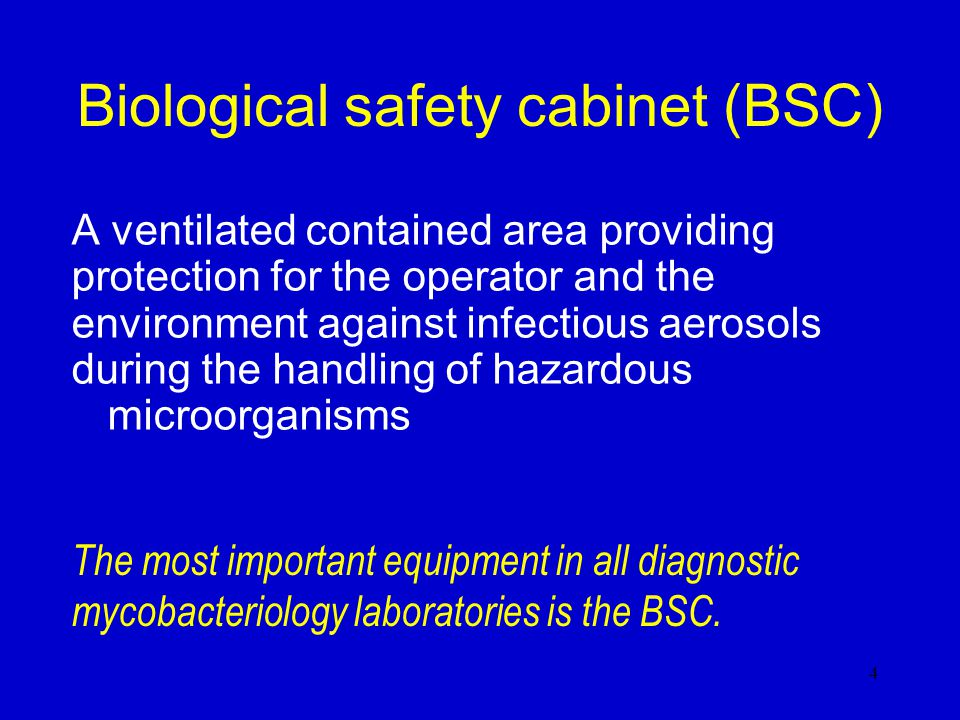 Biological safety cabinet (BSC)