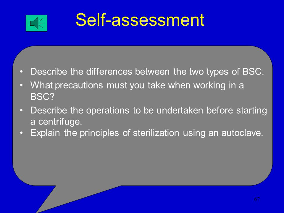 Self-assessment Describe the differences between the two types of BSC.