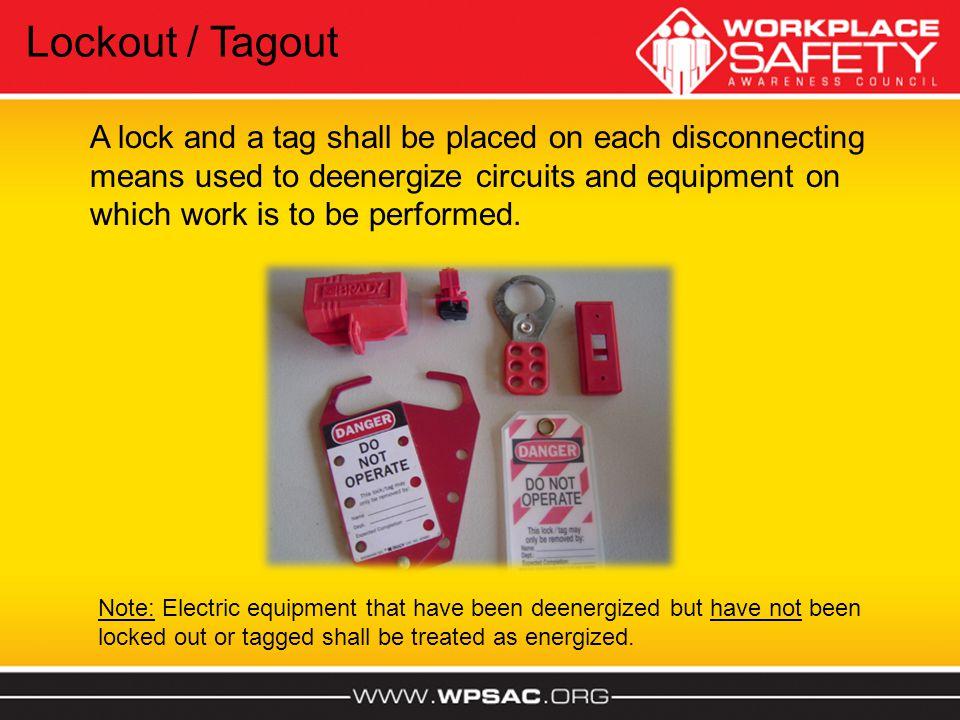 Lockout / Tagout