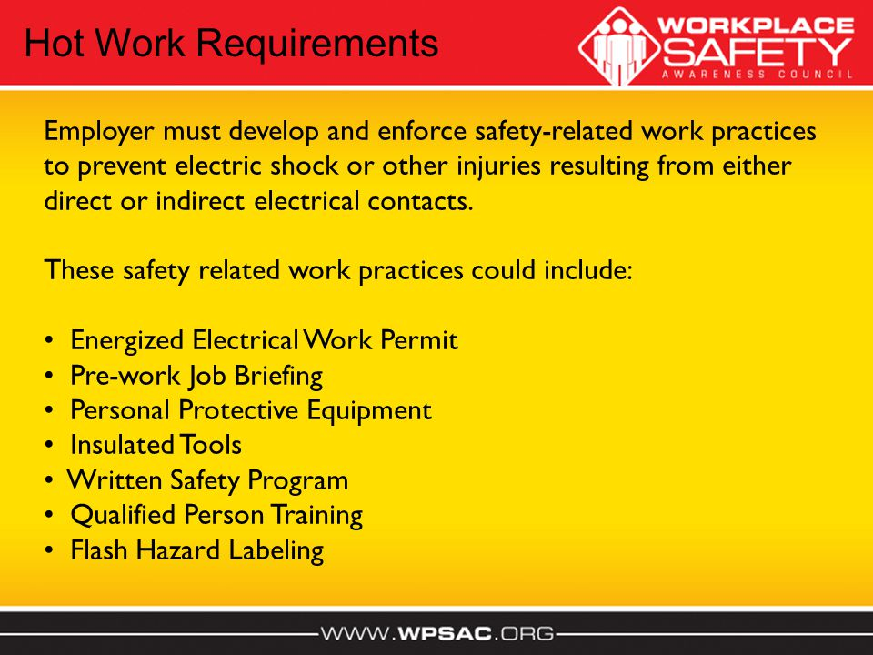 Hot Work Requirements