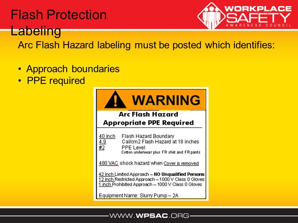 Flash Protection Labeling