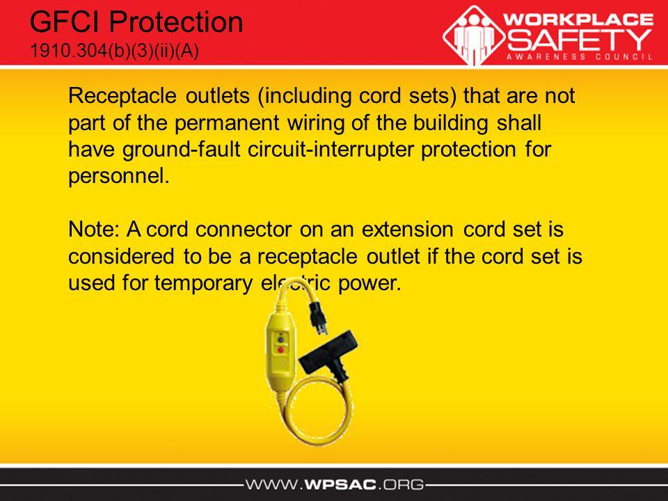 GFCI Protection 1910.304(b)(3)(ii)(A)